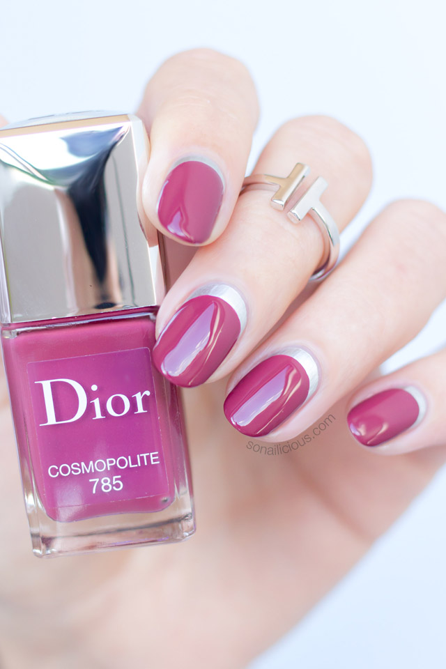 nail art ideas with dior cosmopolite