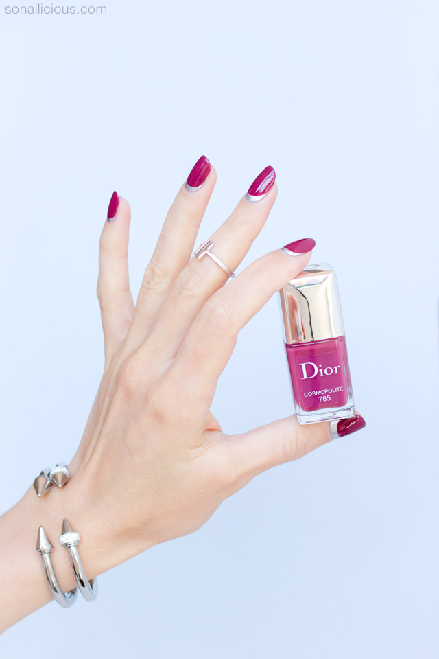 nail art with dior cosmopolite