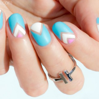 pastel negative space nail art tutorial
