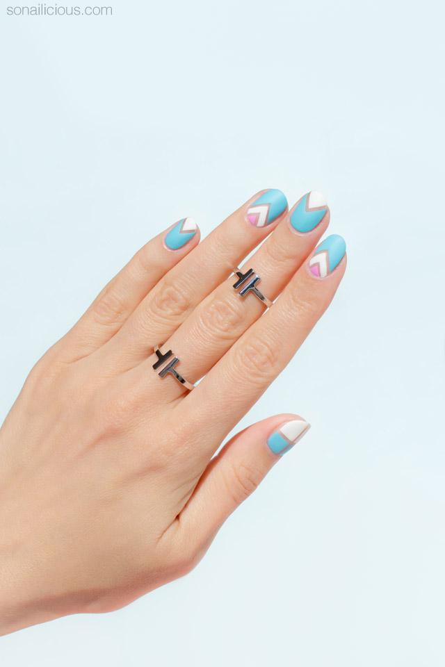 negative space nail art for short nails