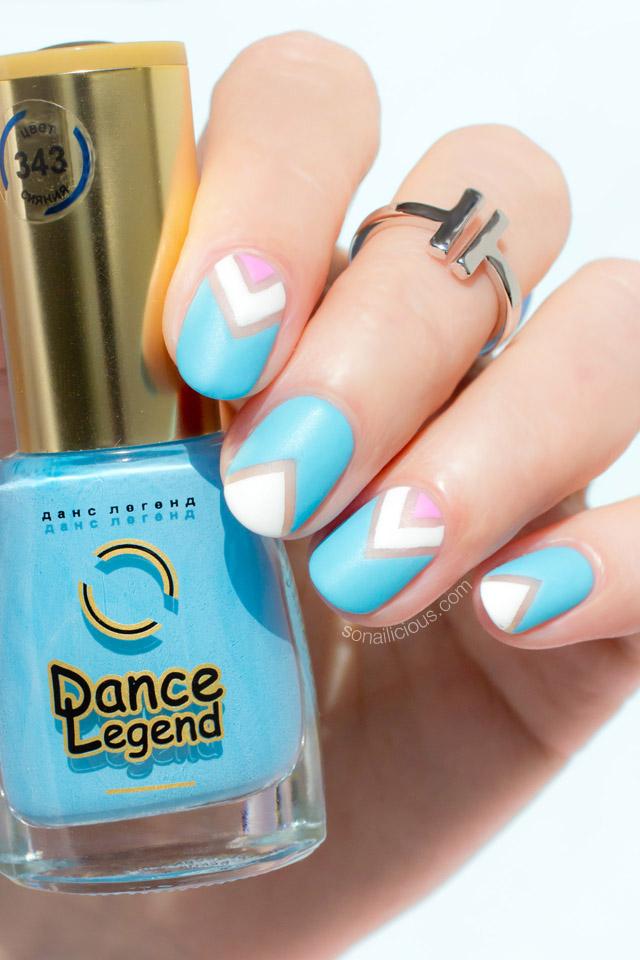 pastel negative space nail art