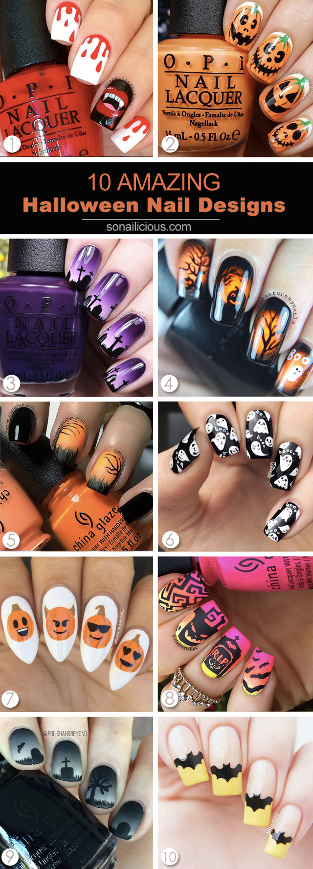 10 best halloween nails