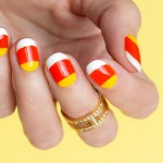 Tutorial: Half-Moon Candy Corn Nails For Halloween