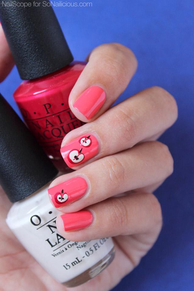 pretty apple nails
