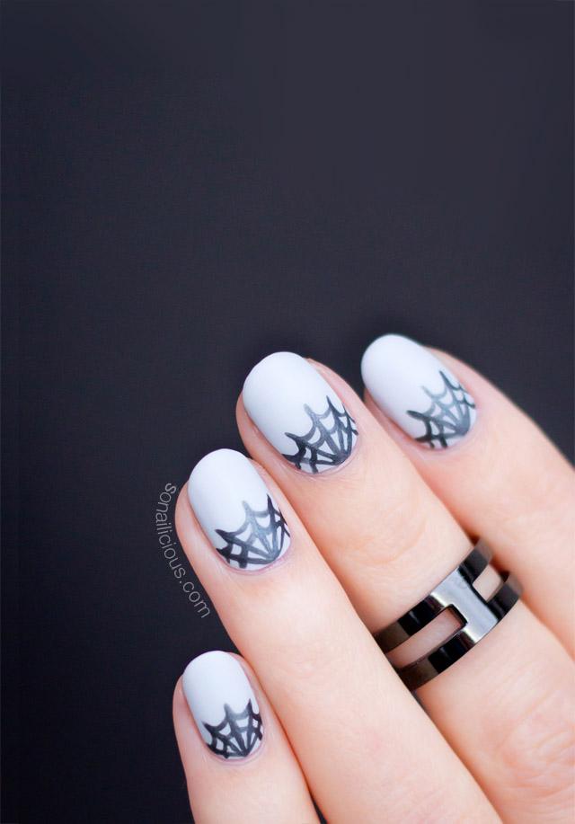 spider web nails - matte