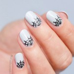 Mani Monday: Half-Moon Spider Web Nails For Halloween