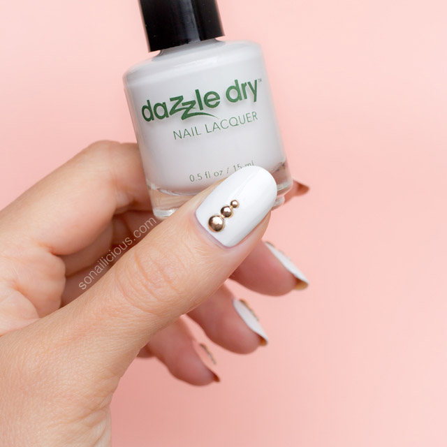 Dazzle dry white lightning review swatches