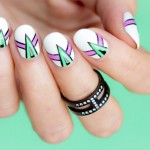 Nails of the Day: Spikes and Lines Abstract Nail Art