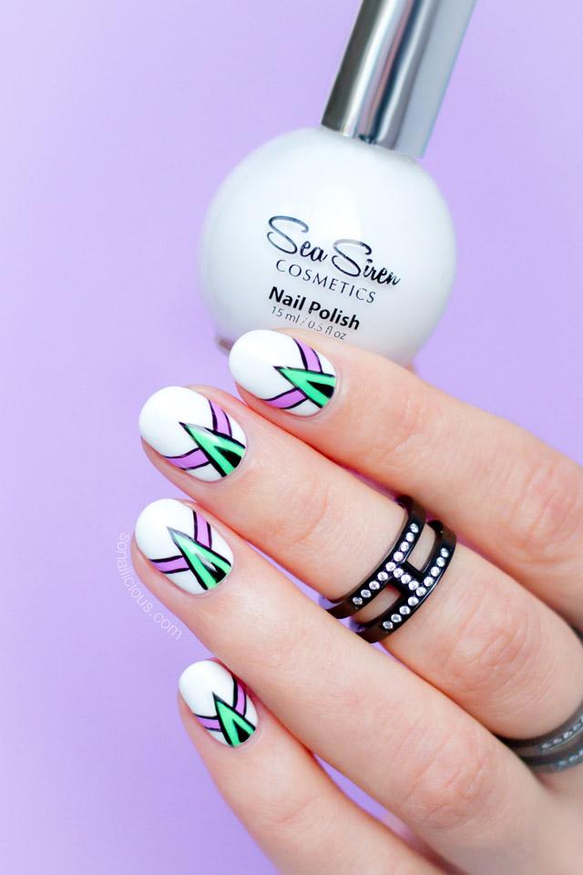 abstract nail art, sea siren leucosia