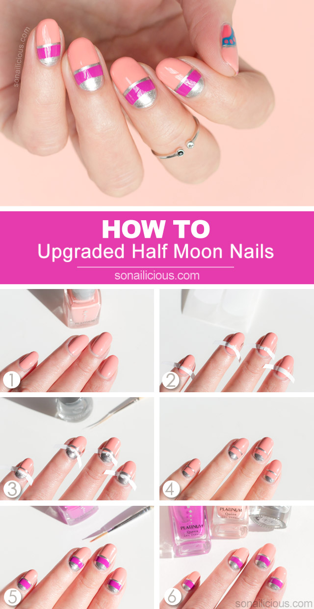 half moon nails how to