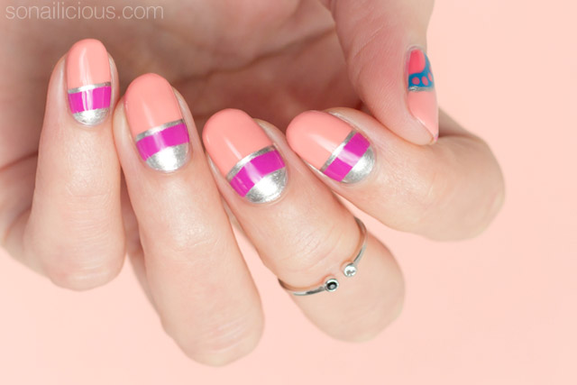 half moon nails tutorial