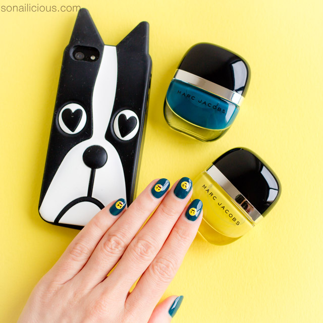 Marc jacobs nail polish, cute emoji nails