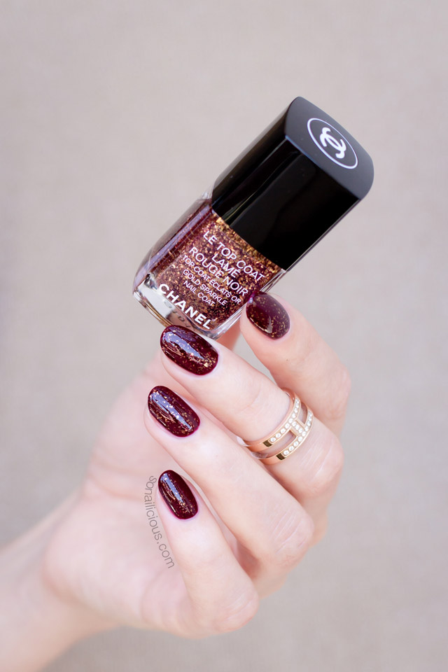 chanel lame rouge noir le top coat review swatches