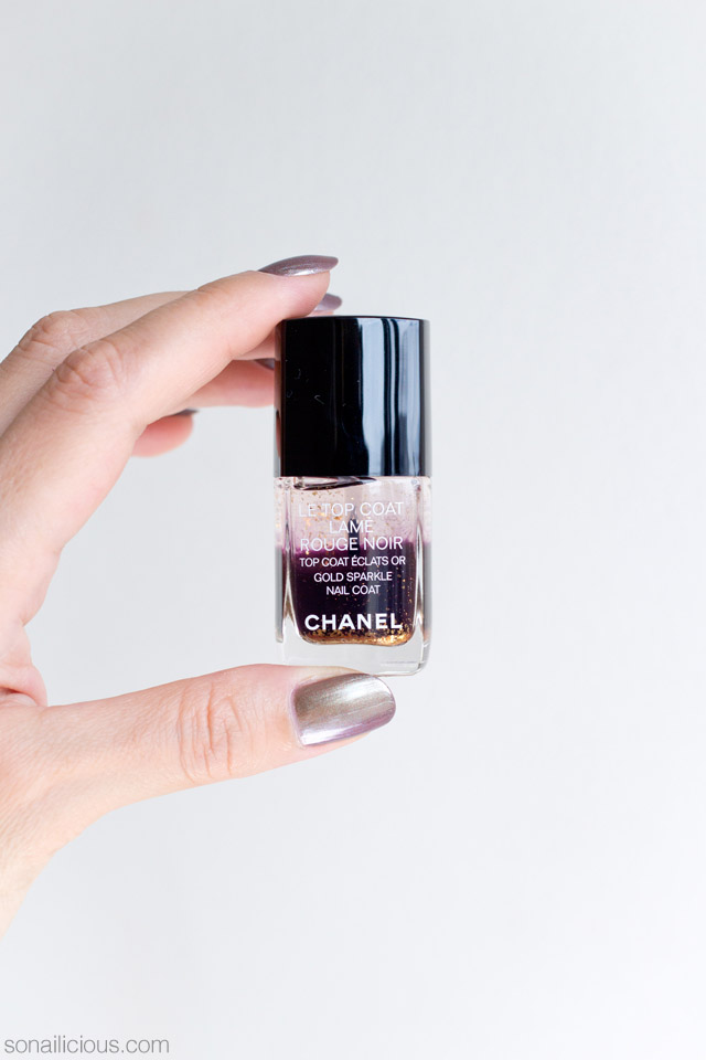 chanel lame rouge noir review