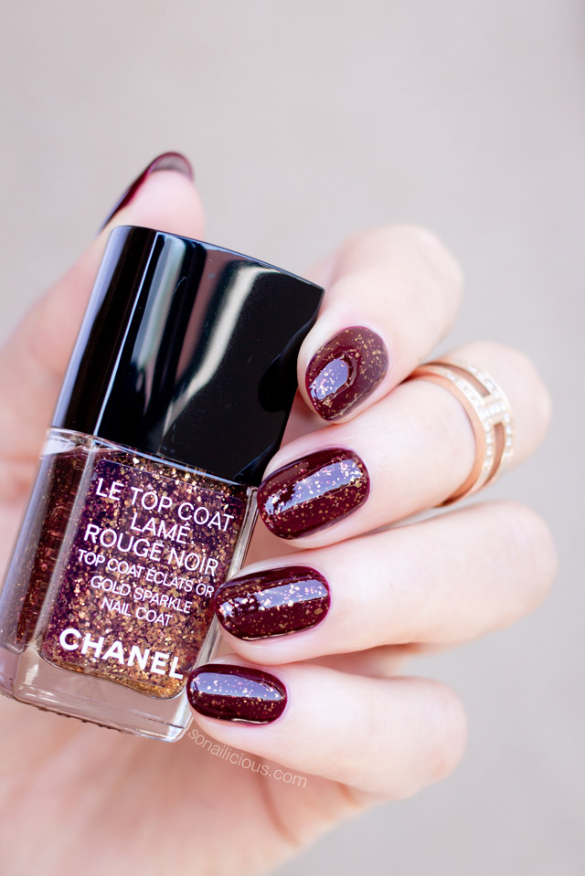 chanel lame rouge noir top coat review