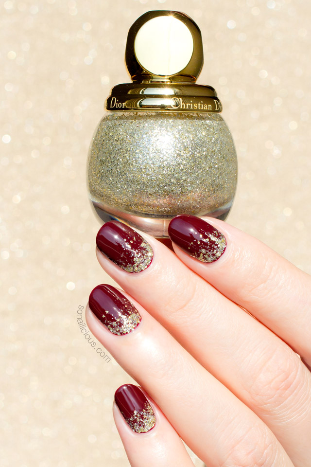 christmas nails, diorific state of gold