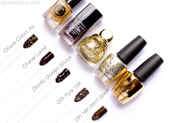 comparison of gold leaf top coats