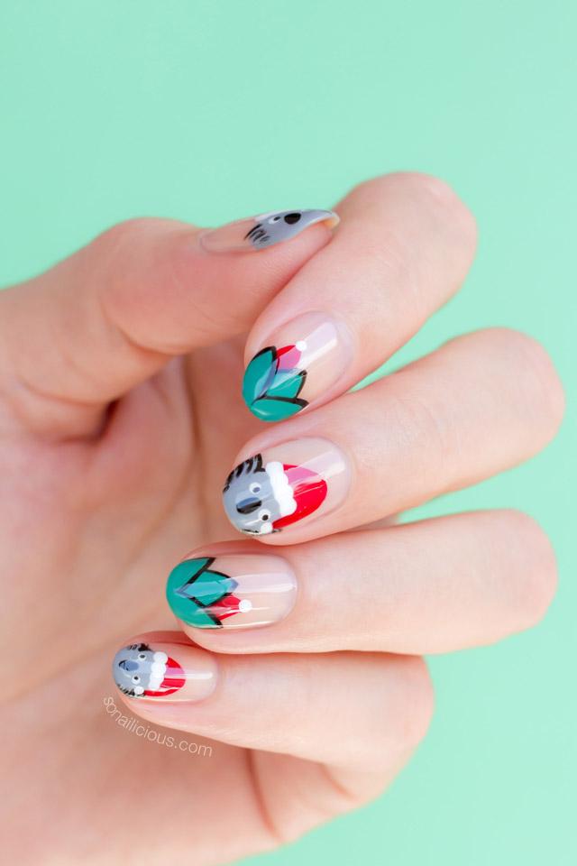 cute christmas nails by @So_Nailicious