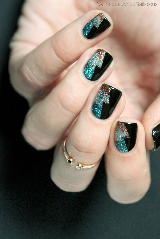 new years eve nails tutorial