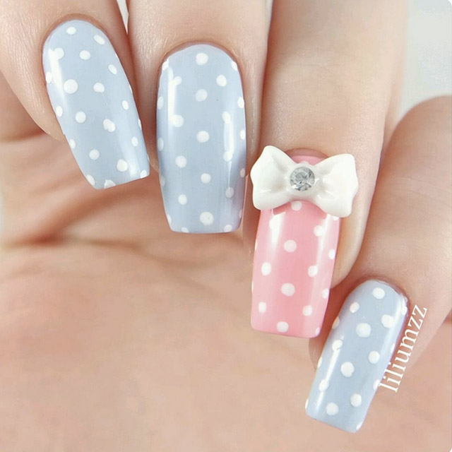 Dotticure with a bow by @liliumzz