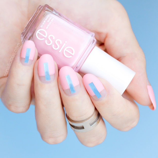Futuristic nails, Essie Need a Vacation