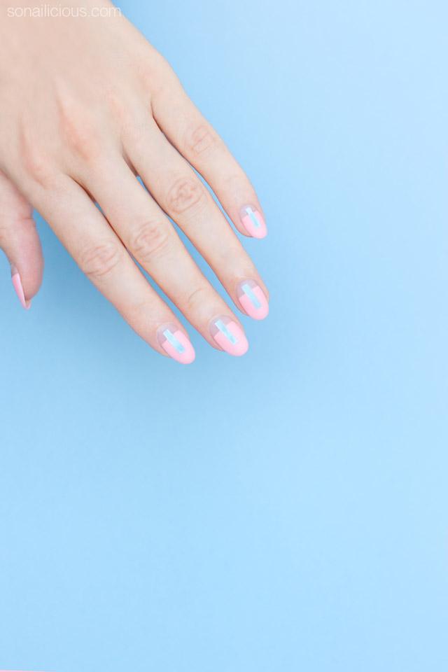 Futuristic nails, Rose Quartz Nails by SoNailicious