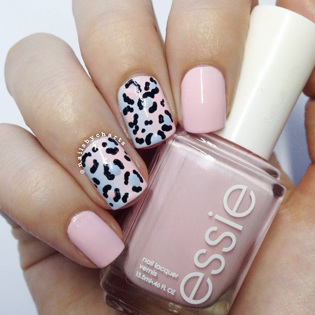Leopard Print Ombre nails by @nailsbycharts