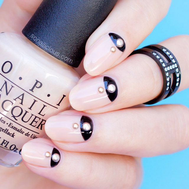 minimalist new years eve nails
