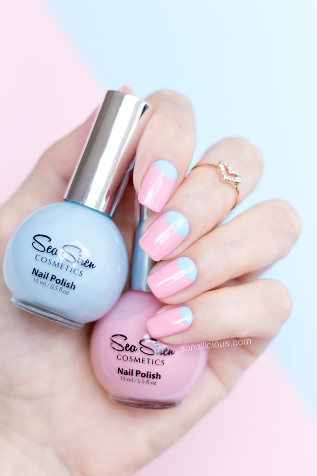 sea siren pamper me pink nails