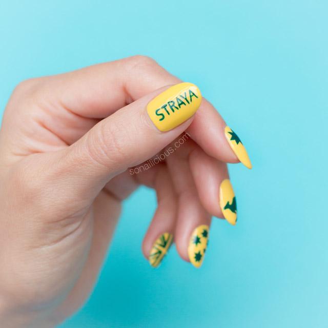 straya australia day nails