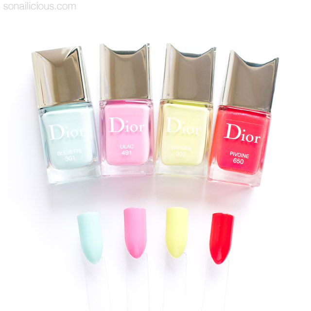 DIOR SPRING 2016 nail polish swatches