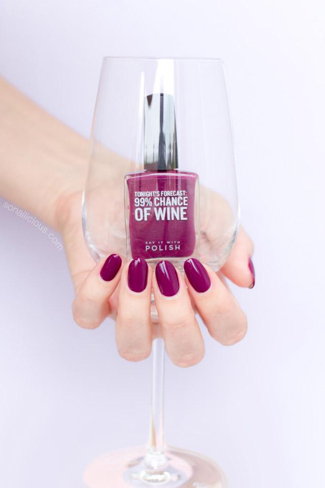 dark red nail polish SIWP Wine and Shine