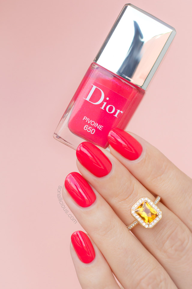 dior pivoine swatch review