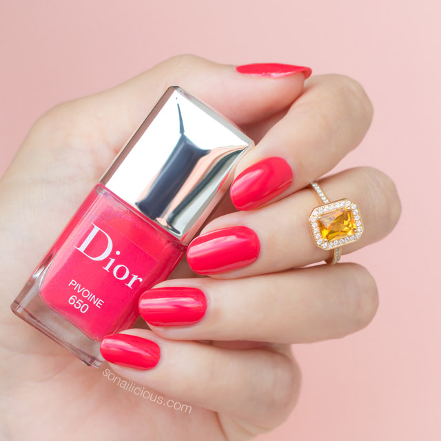 dior pivoine swatches review