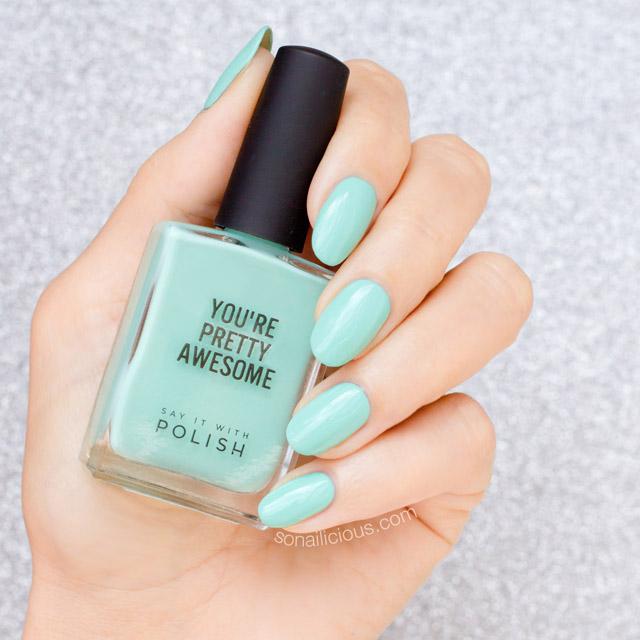 mint nail polish SIWP Hello Sailor