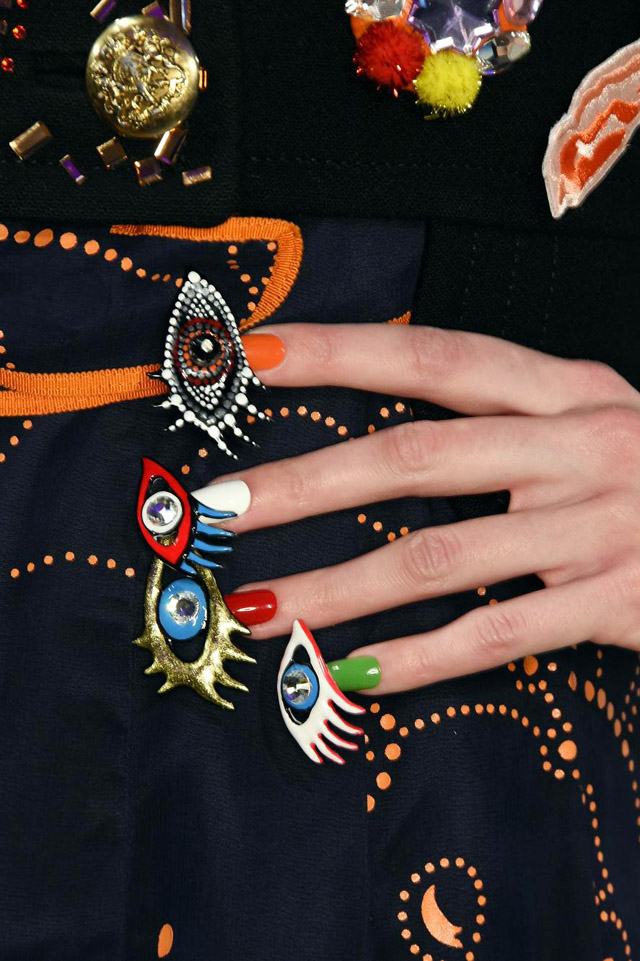 nail art, Libertine New York Fashion Week Fall 2016