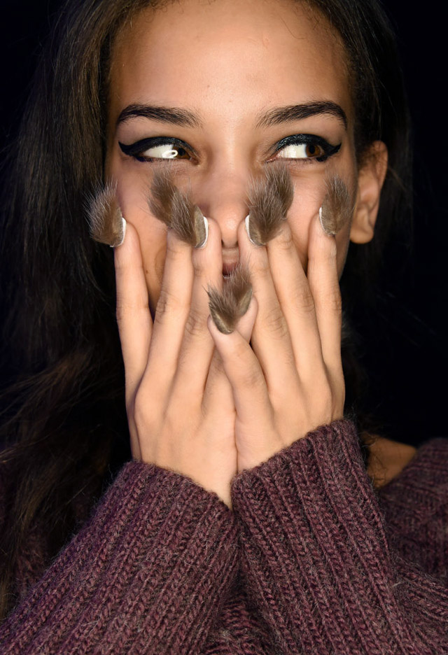 nail art at Libertine New York Fashion Week Fall 2016