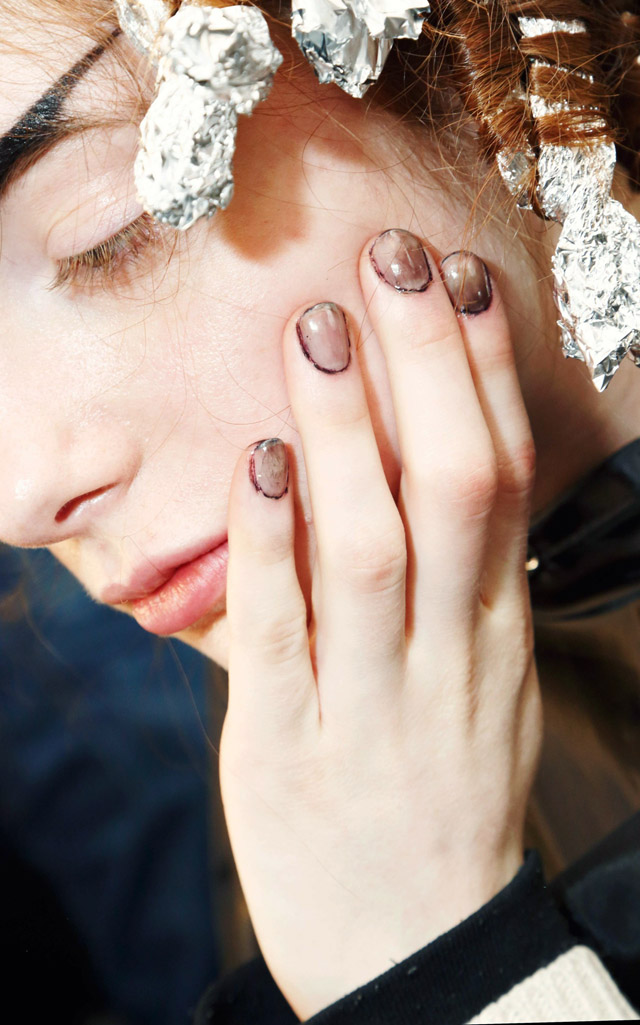 nasty nails at Hood by Air Fall 2016