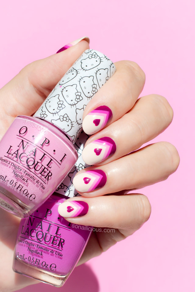 opi hello kitty Valentine's Day Nails