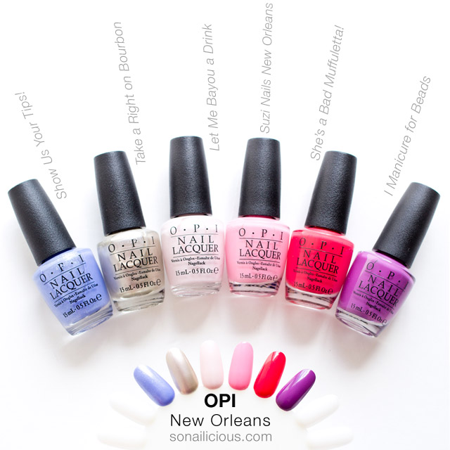 opi new orleans, cool shades