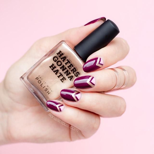 rose gold nail polish -SIWP Wine and shine