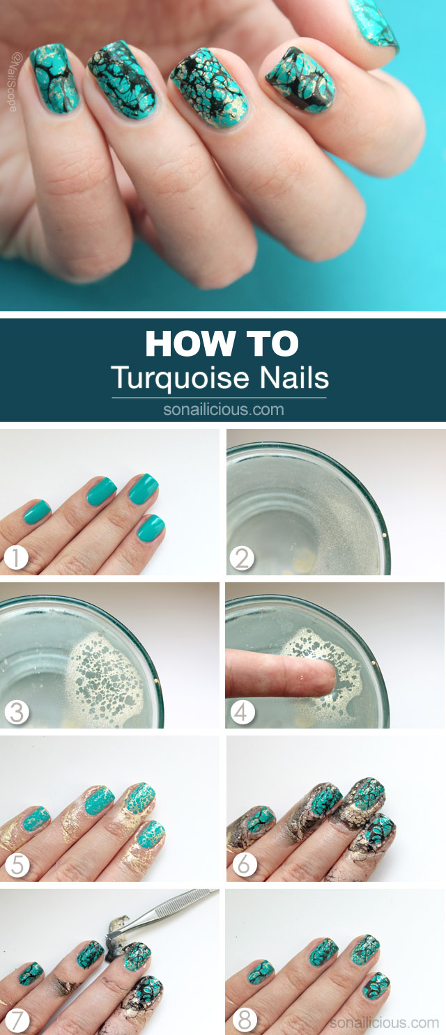 Turquoise Nails Tutorial