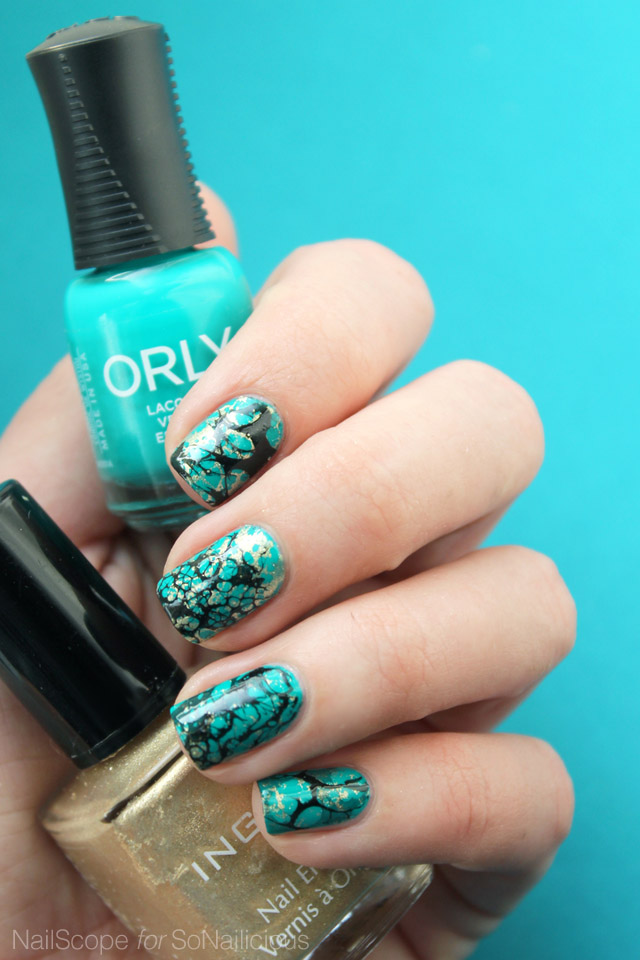 Turquoise Nails how to