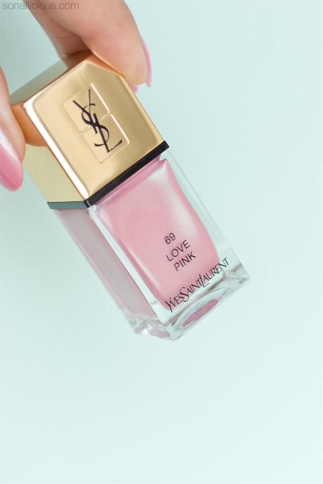 ysl love pink nail polish, ysl love pink review