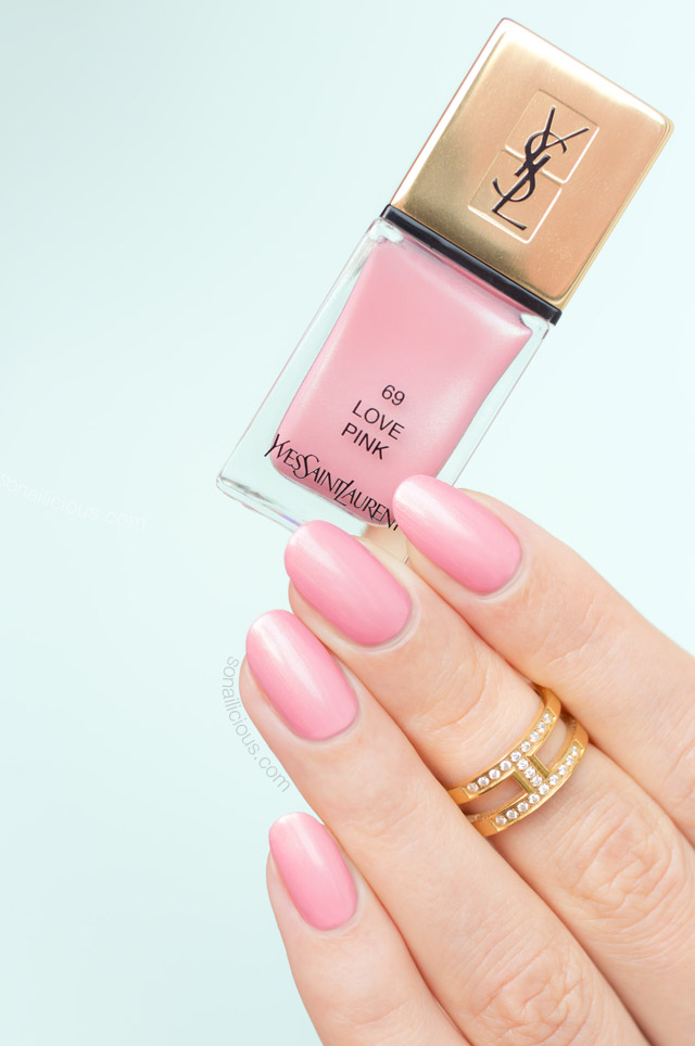 ysl love pink swatch, ysl love pink nail polish