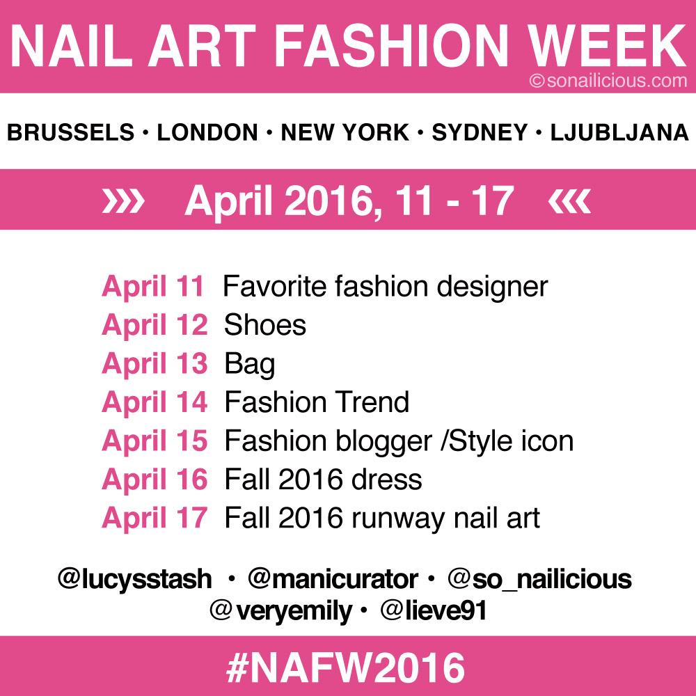NAFW 2016 schedule