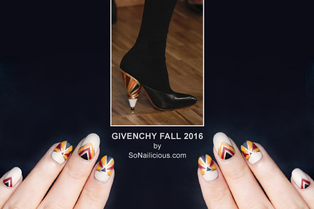 Givenchy Nails, Givenchy shoes Fall 2016, NAFW 2016