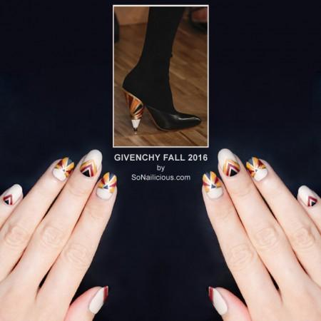 Givenchy Nails, Givenchy shoes Fall 2016, NAFW 2016