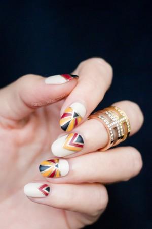 Geometric Fall nails