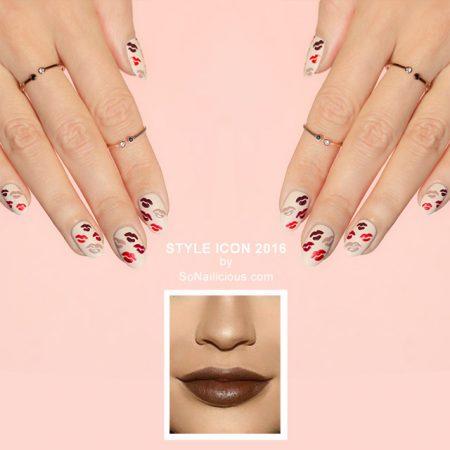 Kylie Jenner lips nails